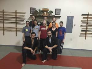 Senior Girl Scout Troop 106 women's self defense workshop