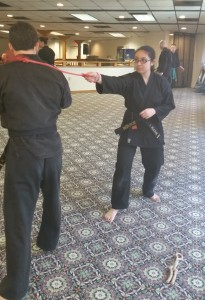 One of our youth instructors Ivaana showing how to whip it good.